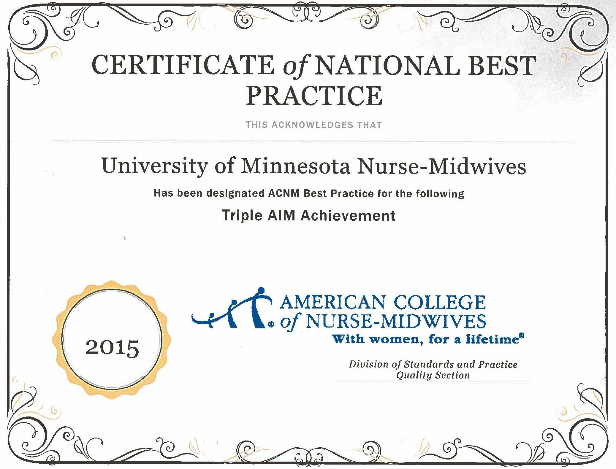 certified nurse midwife certificate